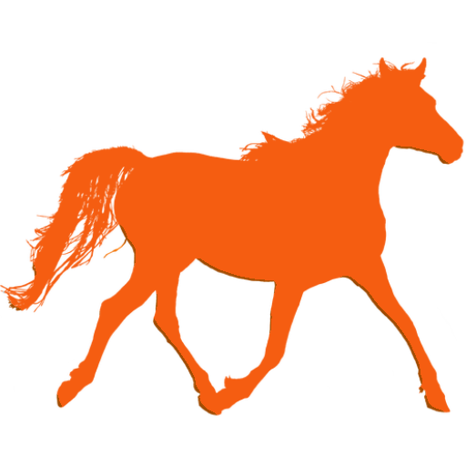 showing an orange horse icon